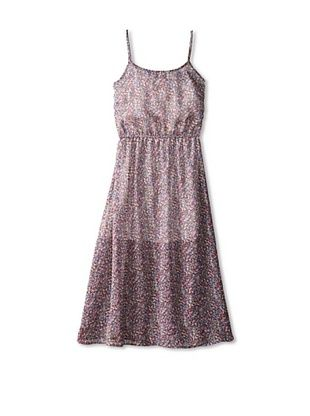 65% OFF Vintage Havana Girl's 7-16 Printed Maxi Dress (Grey Dot)