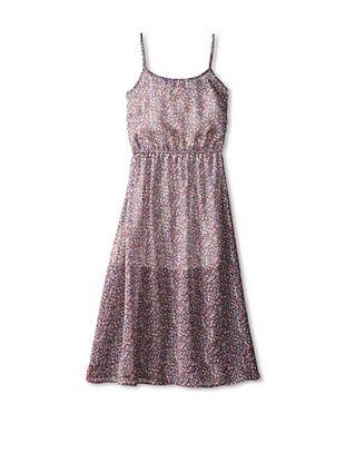 65% OFF Vintage Havana Girl's 7-16 Printed Maxi Dress (Grey Dot)