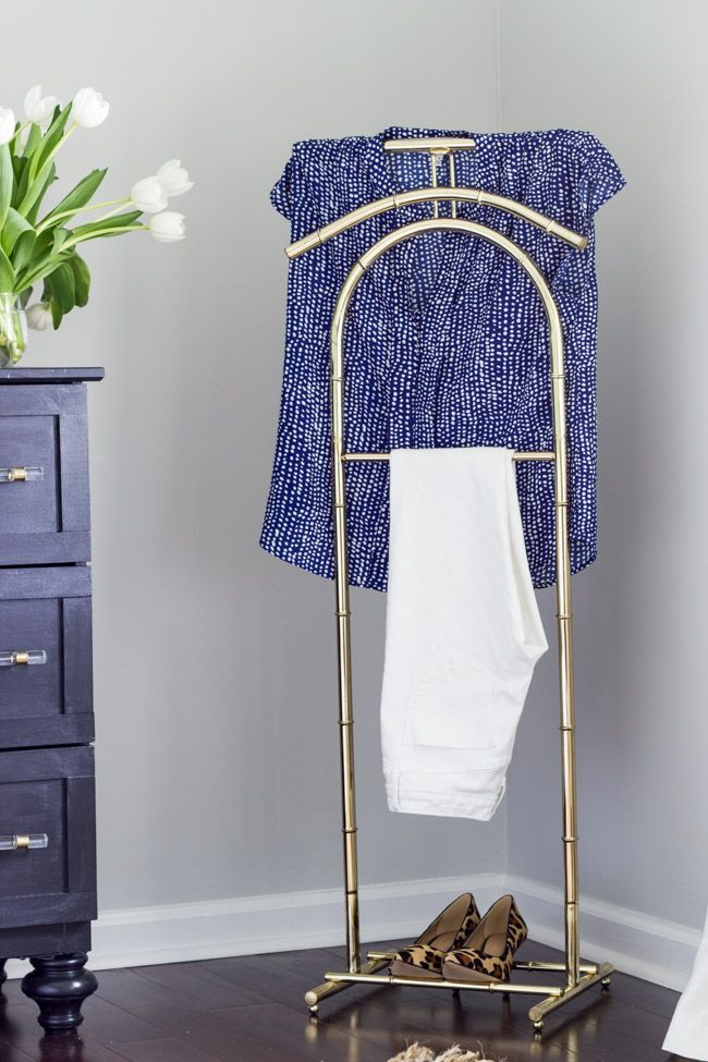 Brass Valet Stand In The Master Bedroom Perfect For Laying Out Clothes For The Next Day Es