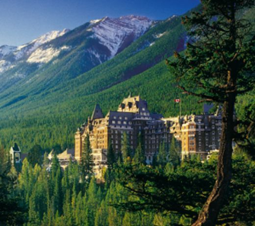 Banff, it it doesn't matter what time of year it is, there is always stuff to see and do in Banff. You will often see either a bear, elk, deer or mountain goat. The hotel pictured is the Banff Springs Hotel. @Tammy Witt via Wild Canada Salmon.com