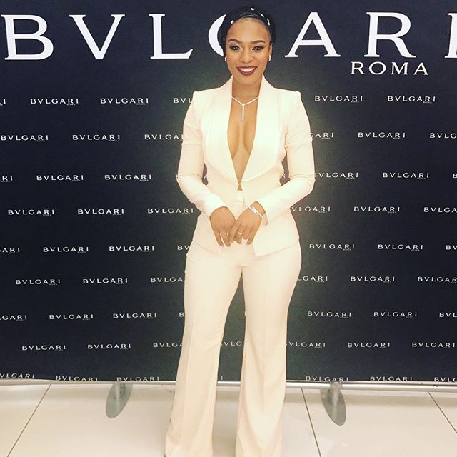 WEBSTA @ nomzamo_m - Two weeks ago, Out at the #BulgariSA store launch in Diamond Walk. Hosted by #PicotandMoss Neckpiece