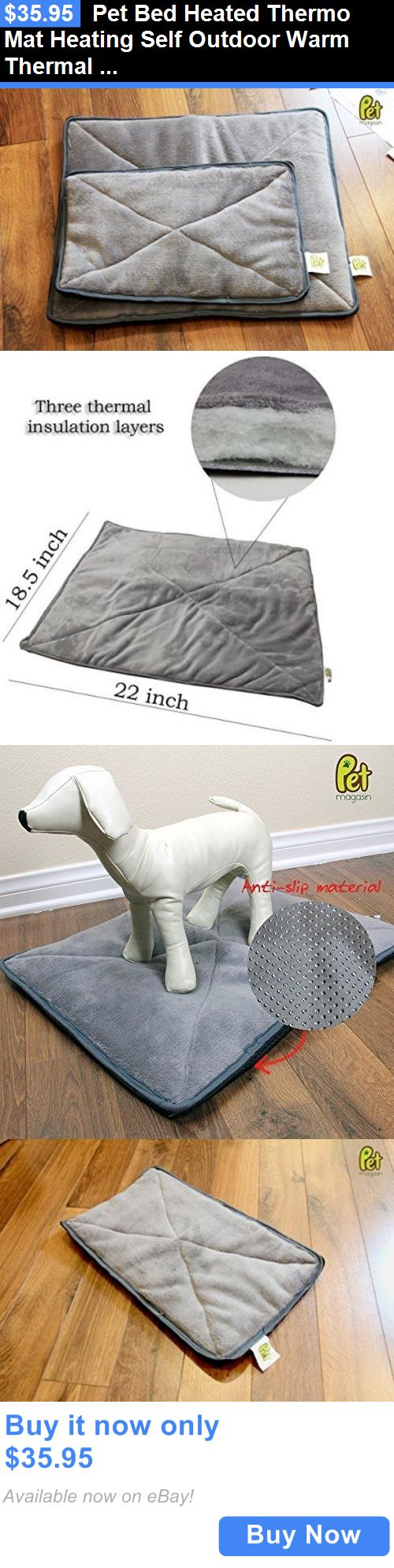 Animals Dog: Pet Bed Heated Thermo Mat Heating Self Outdoor Warm Thermal Dog House Pad 2 Pads BUY IT NOW ONLY: $35.95