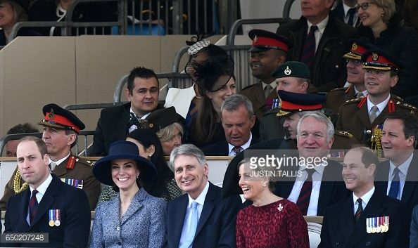Britain's Prince William Duke of Cambridge Britain's Catherine Duchess of Cambridge British Chancellor of the Exchequer Philip Hammond Britain's...