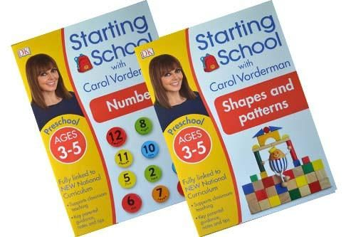 Starting School with Carol Vorderman Workbooks Collection (Shapes and Maths) [2 books]