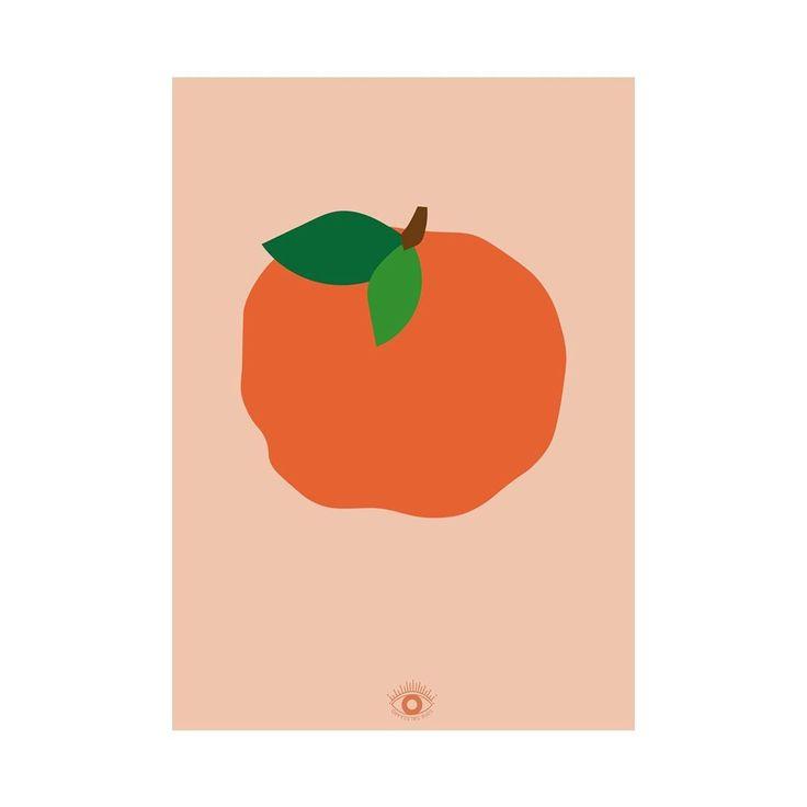 Orange Poster A3 Split Coral Poster A3 • • • #wallpaper # ...