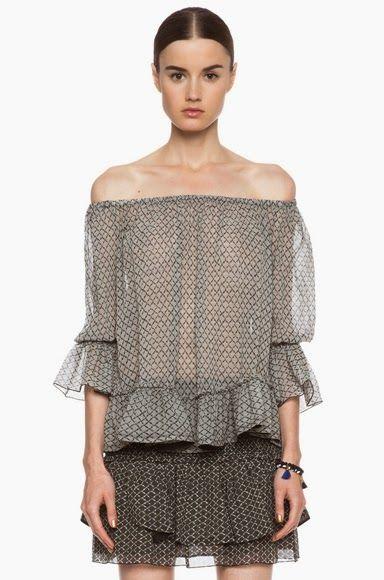 Todavía el verano no ha terminado, todavía tienes tiempo de hacerte una  blusa con los hombros al descubierto . Te la puedes confeccionar co...