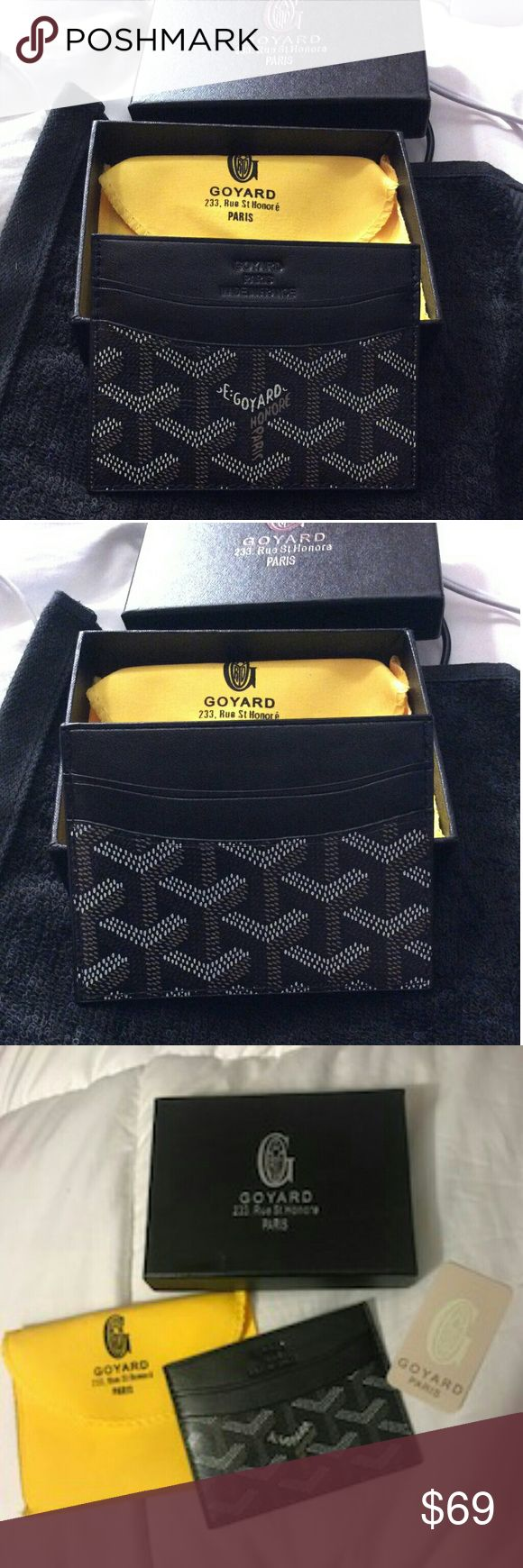 Black Goyard Card holder New with box hence price not the original Accessories Key & Card Holders