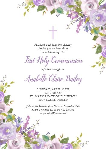 Girl First Communion 1st Holy Communion Invitations Zazzle