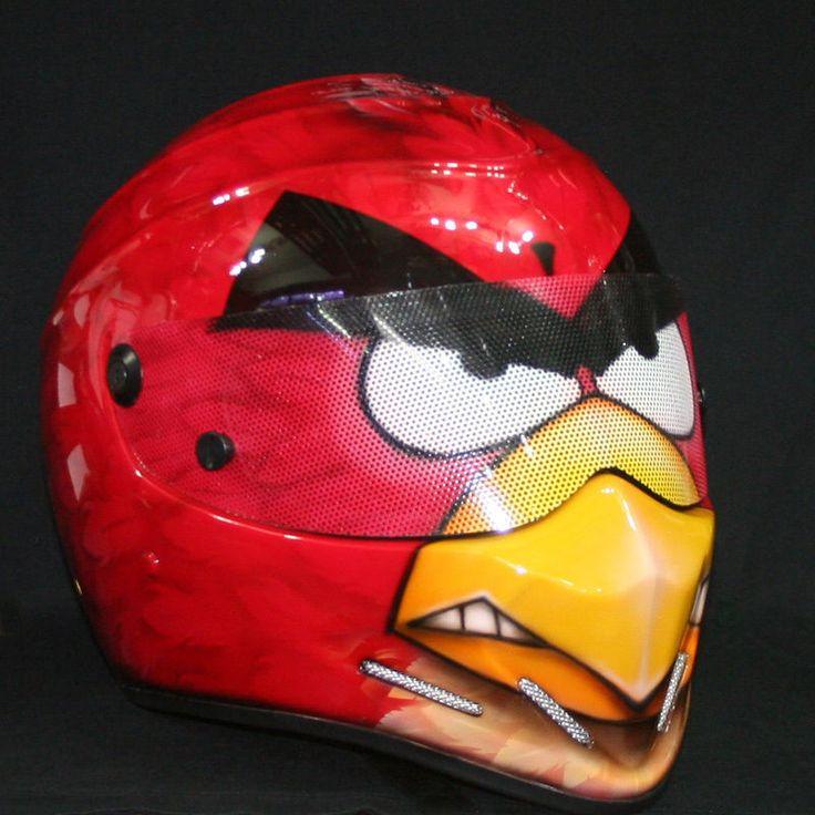 Custom Full Face Motorcycle Helmets Angry Birds