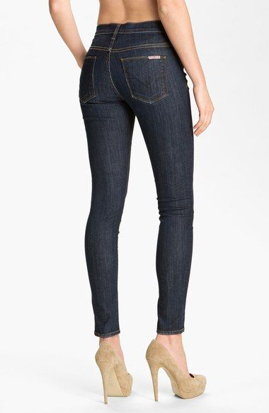 Free shipping and returns on Hudson Jeans 'Nico' Mid Rise Skinny Jeans (Abbey) at Nordstrom.com. Slim legs are cut to an abbreviated silhouette from subtly faded, dark-rinse stretch denim that highlights every curve.