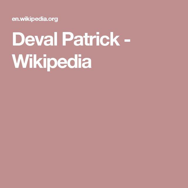 Deval Patrick - Wikipedia