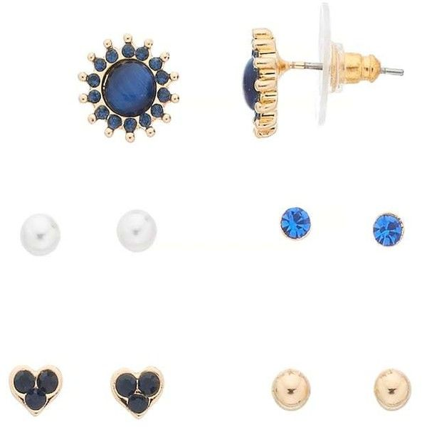 LC Lauren Conrad Simulated Cat's-Eye Cabochon Nickel Free Stud Earring... ($18) ❤ liked on Polyvore featuring jewelry, earrings, blue, cats eye earrings, nickel free stud earrings, nickel free jewelry, cabochon jewelry and nickel free earrings