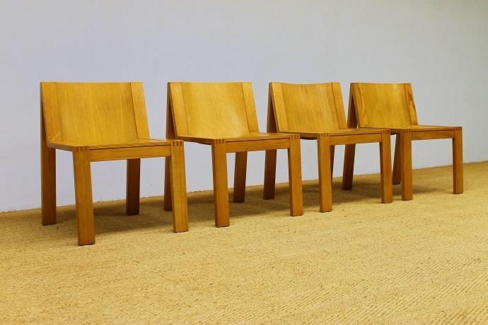 Chairs, ash, Karel Boonzaayer and Pierre Mazairac for Pastoe, 70's
