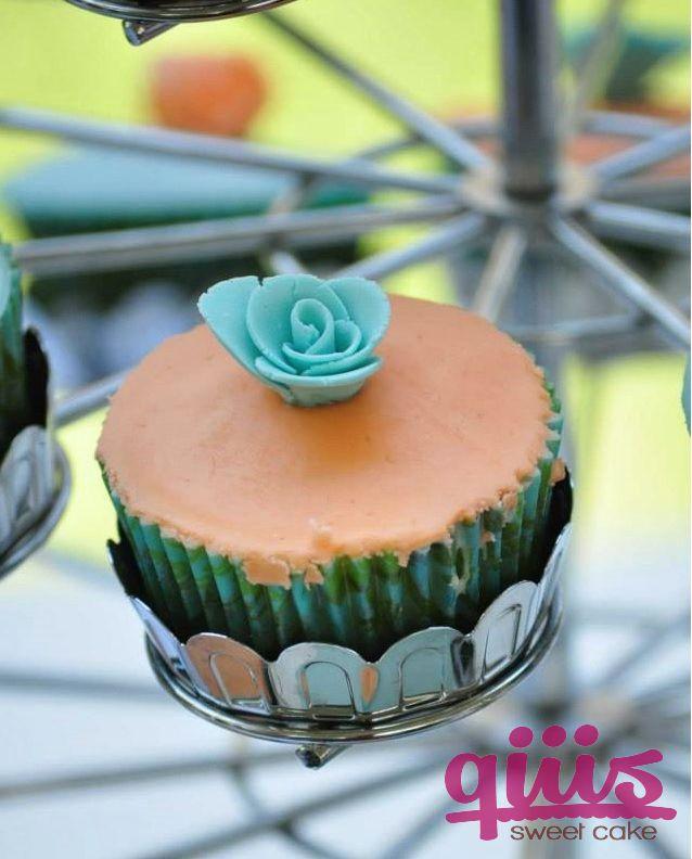Cup Cakes de fondant sabor vainilla