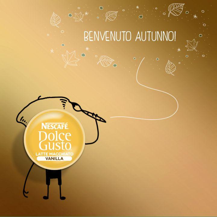 Latte Macchiato Vaniglia augura a tutti un buon autunno, la sua stagione preferita! (Pic by Nescafè Dolce Gusto)