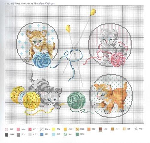 Les 25 meilleures id es concernant chatons jouant sur pinterest chatons mignons chatons et chats - Veronique enginger grille gratuite ...