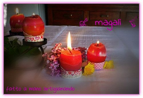 magalì: centrotavola Pasqua candeluova profumate - segnaposto -