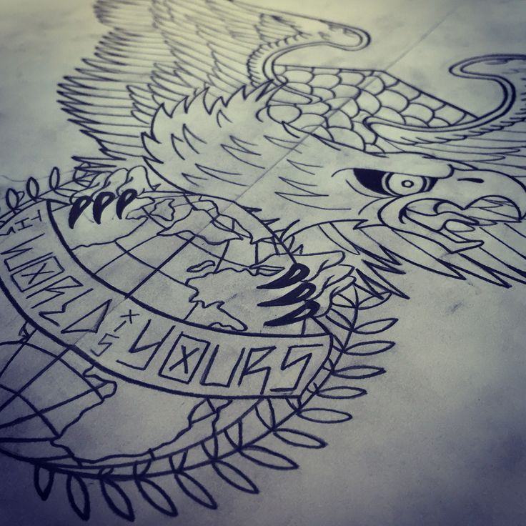 Tattoo eagle the world is yours tattoo ideas for The world is yours tattoo