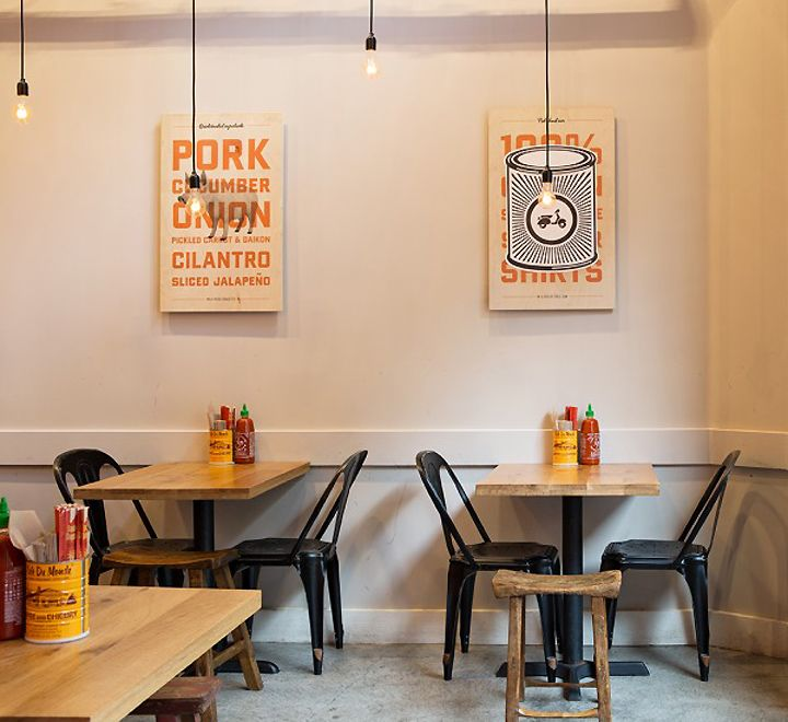 Bun Mee Vietnamese sandwich shop by zero ten design San Francisco California 04