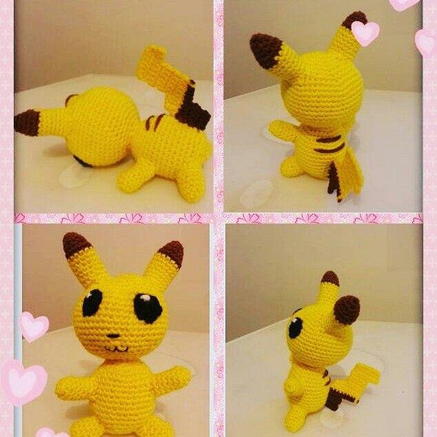 Pikachu #pokemon #amigurumi #crochet #diy