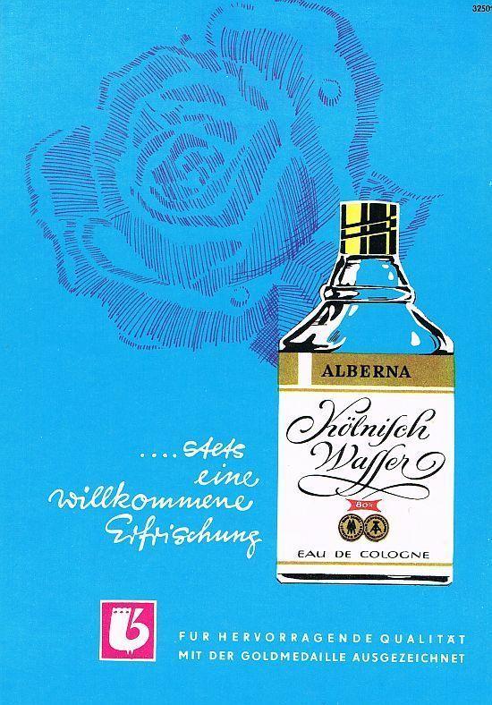 Kölnisch Wasser Alberna DDR Werbung von 1970