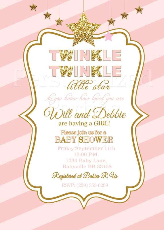 61 best twinkle twinkle little star parties images on pinterest, Baby shower invitations