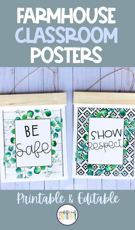 Editable boho farmhouse posters in 2020 inspirational