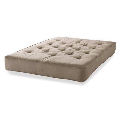 "S2G 6"" Innerspring Queen Size Futon Mattress Color: Taupe"