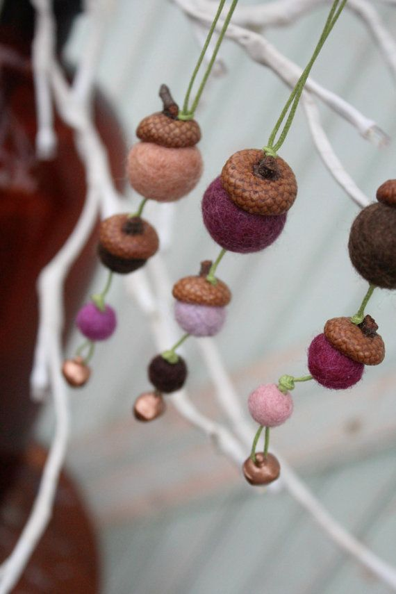 Set of 3 Acorn Ornaments for Holiday Home Decor in door worthygoods, $20.00