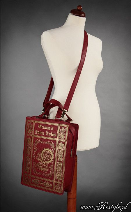 """Red BOOK bag """"GRIMM'S FAIRYTALES"""" gothic lolita handbag   Only 33 euros? Sign me up!"""