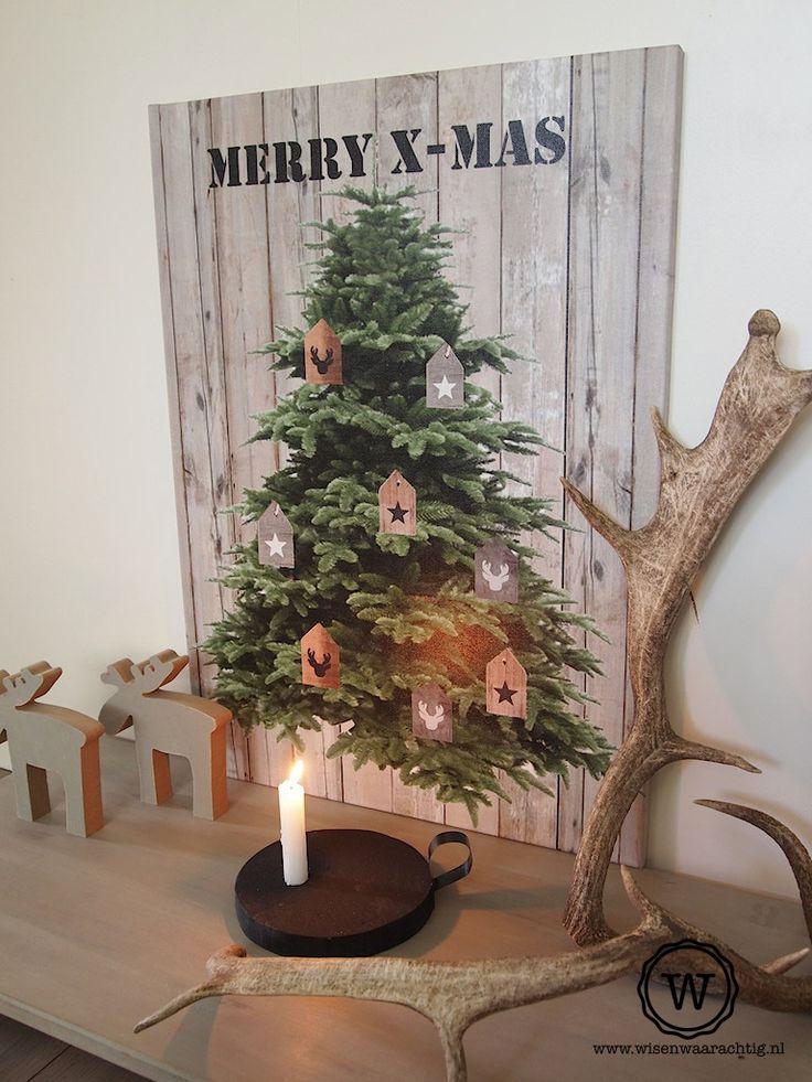 #kerstboom op #canvas XL. Stoere #kerstdecoratie. Wil je geen echte kerstboom? Met deze canvas heb je toch meteen #kerst in huis!
