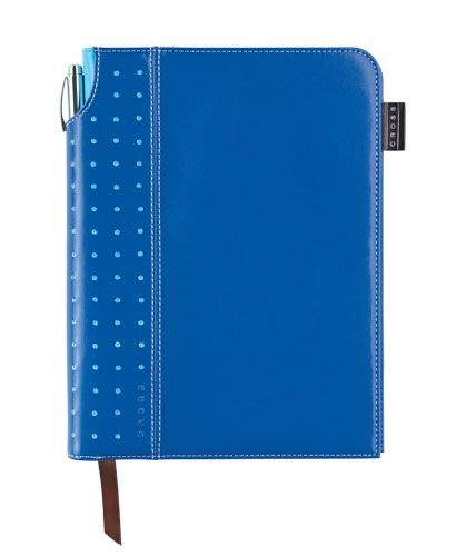 Cross Corporate Medium Journal available in a variety of striking colors. Each journal features a cleverly integrated pen sleeve for storing the complementary pen. ribbon page marker, expandable inner pocket, acid free paper and perforated pages. Gift box is available. $22