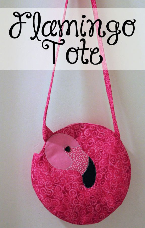 Free sewing tutorial for a Flamingo Tote