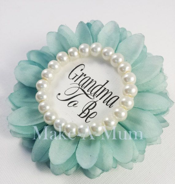 TIFFANY BLUE Wrist or Pin Baby Shower Corsage baby shower
