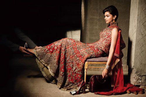 Deepika Padukone in red dress