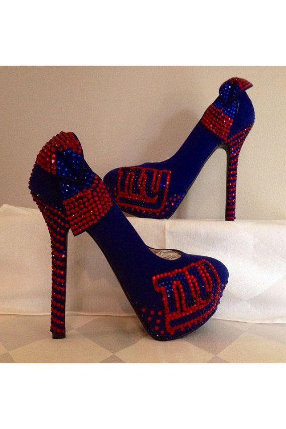 Custom heels New York Giants heels ny giants by Blingshoeshop