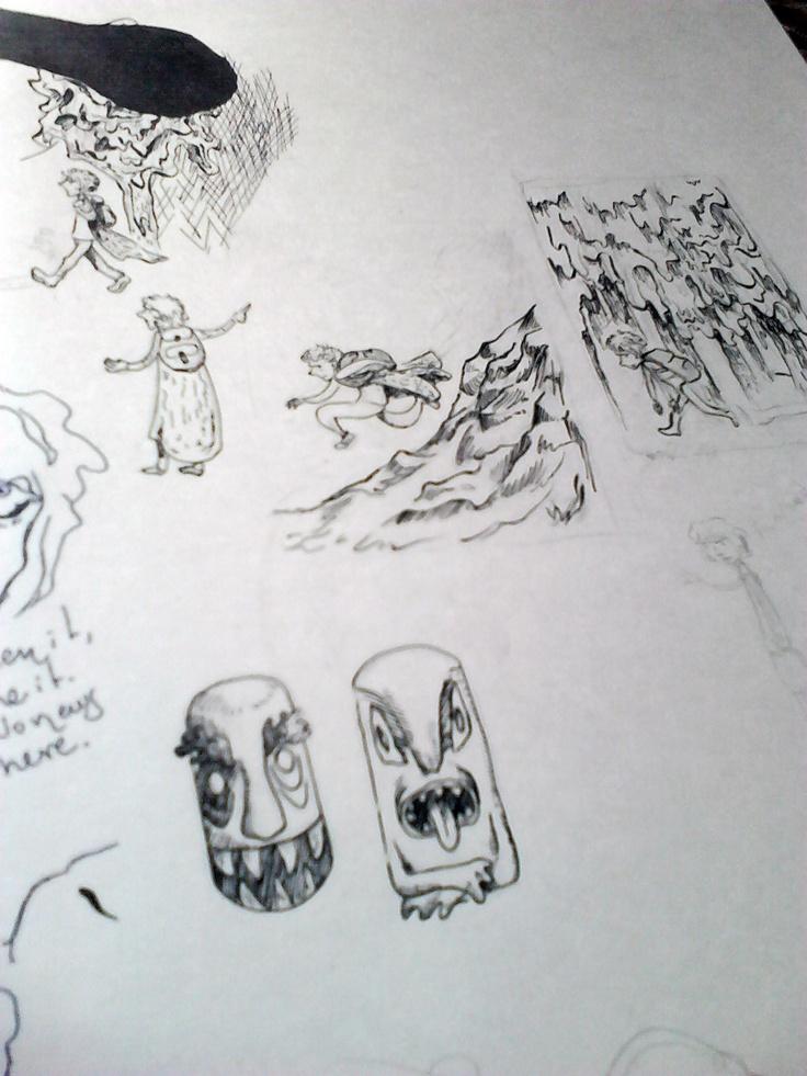 unos ensayos de tinta para el librillo