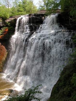 Brandywine Falls - This is a very scenic and easy to visit waterfall. It is one of the highlights of Cuyahoga Valley National Park, and the most impressive waterfall in the  Lake Erie Watershed.