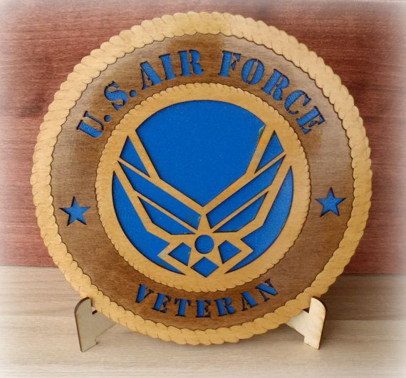 Air Force Veteran Plaque Personalized Gift Military Laser