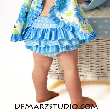 Pattern for Baby Clothes How to Sew Ruffled Diaper by tiedyediva