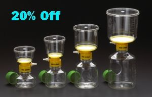 CellTreat Vacuum Bottle Top Filters are ideal for large volume sample separation and purification. If you want to buy then just browse biofluidfocus and get huge selection of celltreat bottletop filters at unbeatable prices.
