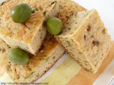 Italian Finger Food  Recipes...Focaccia alle olive con pasta madre