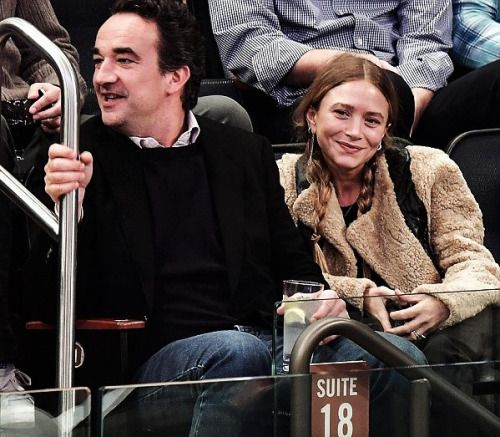 Olivier and Mary-Kate at New York Knicks vs Brooklyn Nets at Madison Square Garden on November 9, 2016