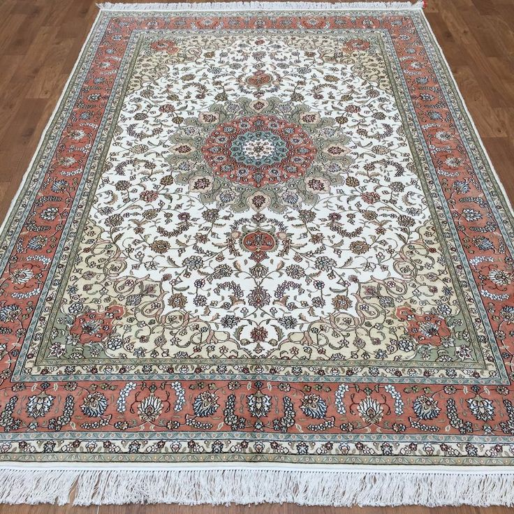 6x9 fine mint persian handmade silk area rugs living room for Living room rugs 6x9