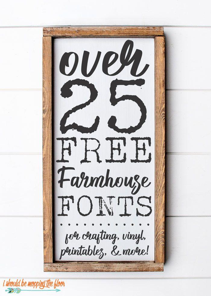 25+ Free Farmhouse Font Downloads | Farmhouse font, Cricut ...