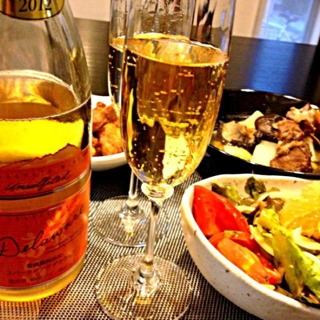 デパートで勧められた限定ワインです。 アプリコットとももの香りして、ロゼ色凄く美味しい国産ワインです✨ - 25件のもぐもぐ - 山形産無添加デラウェア  スパークリングワイン✨             大根とスペアリブ、干し椎茸、蓮の実スープ 、  グレープフルーツ入りアボサラダ by ran521jp