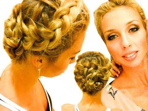 Коса Цветок. Плетение косы вокруг головы. (+playlist)