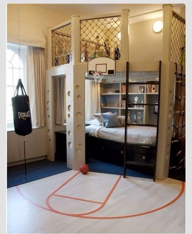 Jackson's basketball themed room in our next home!