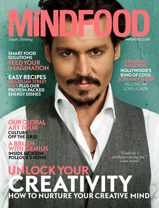 Our June issue of MiNDFOOD Magazine with Johnny Depp on the cover! On sale now http://www.mindfood.com/online-shop/
