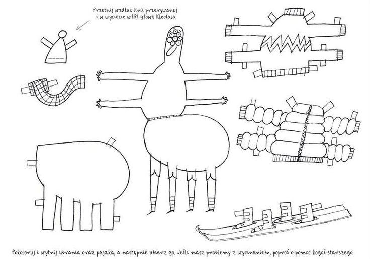 polska ilustracja dla dzieci: Nowość - Blok rysunkowy pająka Kleofasa